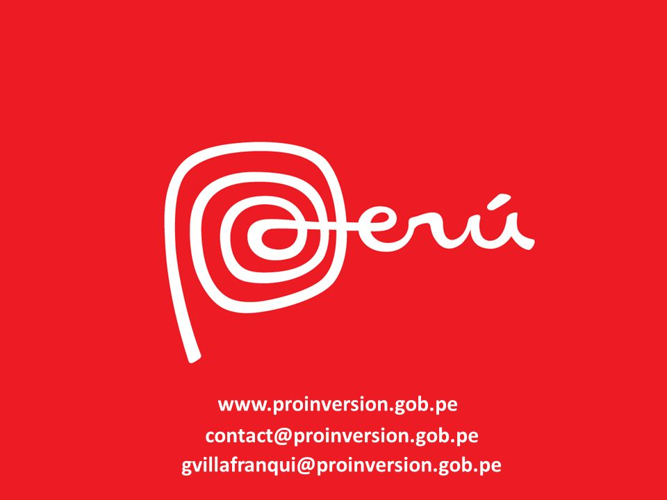 www.proinversion.gob.pe contact@proinversion.gob.pe