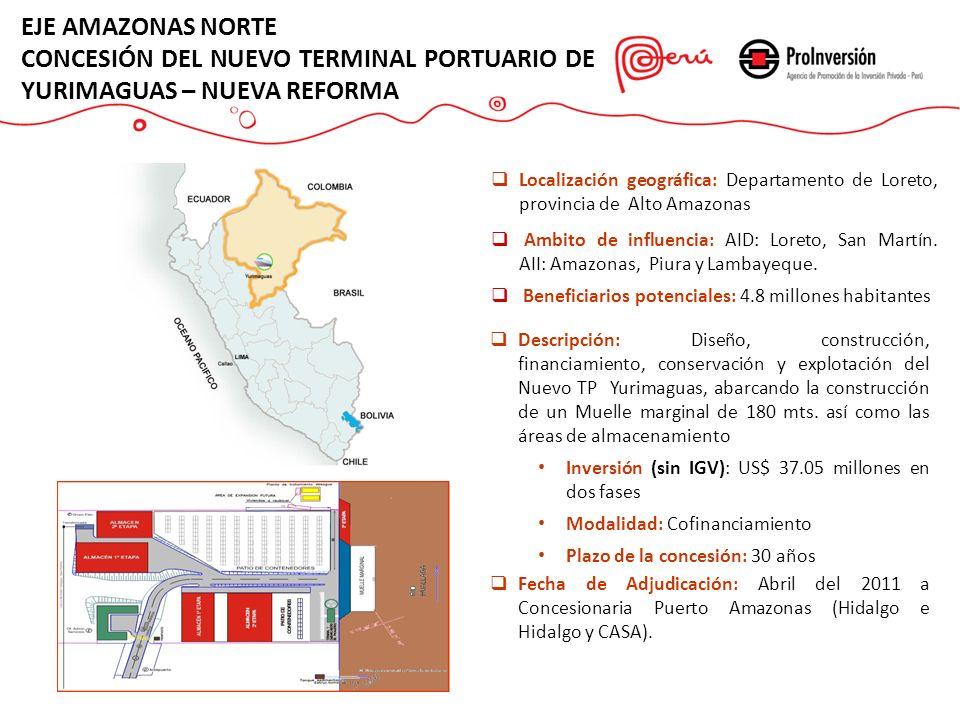 CONCESIÓN DEL NUEVO TERMINAL PORTUARIO DE YURIMAGUAS – NUEVA REFORMA