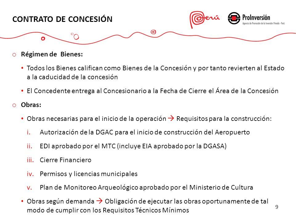 CONTRATO DE CONCESIÓN Régimen de Bienes: