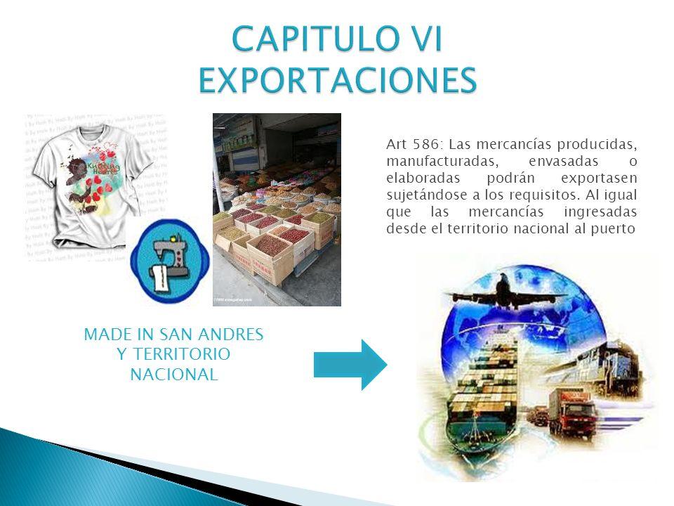 CAPITULO VI EXPORTACIONES