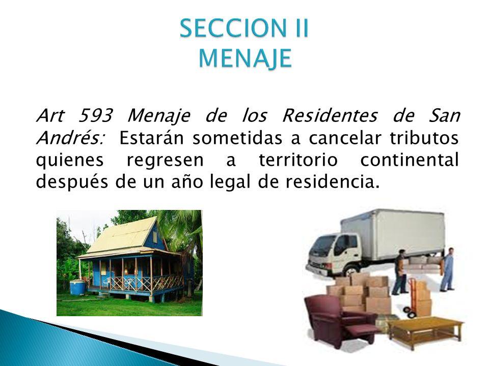 SECCION II MENAJE
