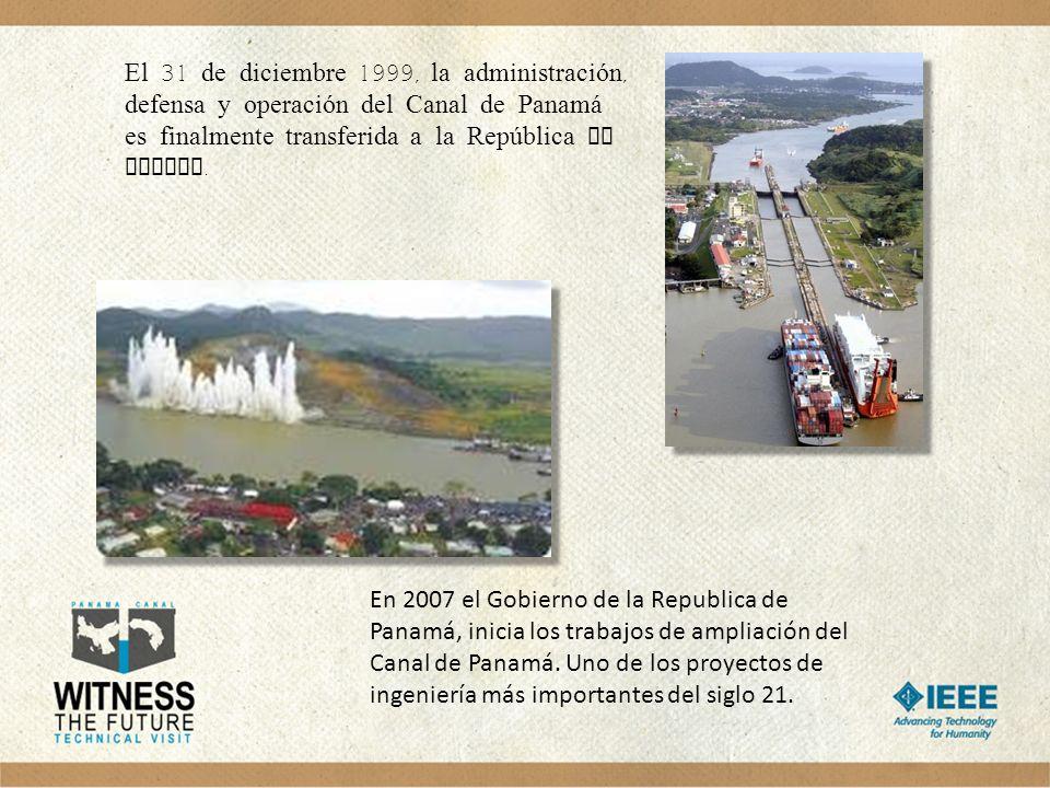 El 31 de diciembre 1999, la administración, defensa y operación del Canal de Panamá es finalmente transferida a la República de Panama.