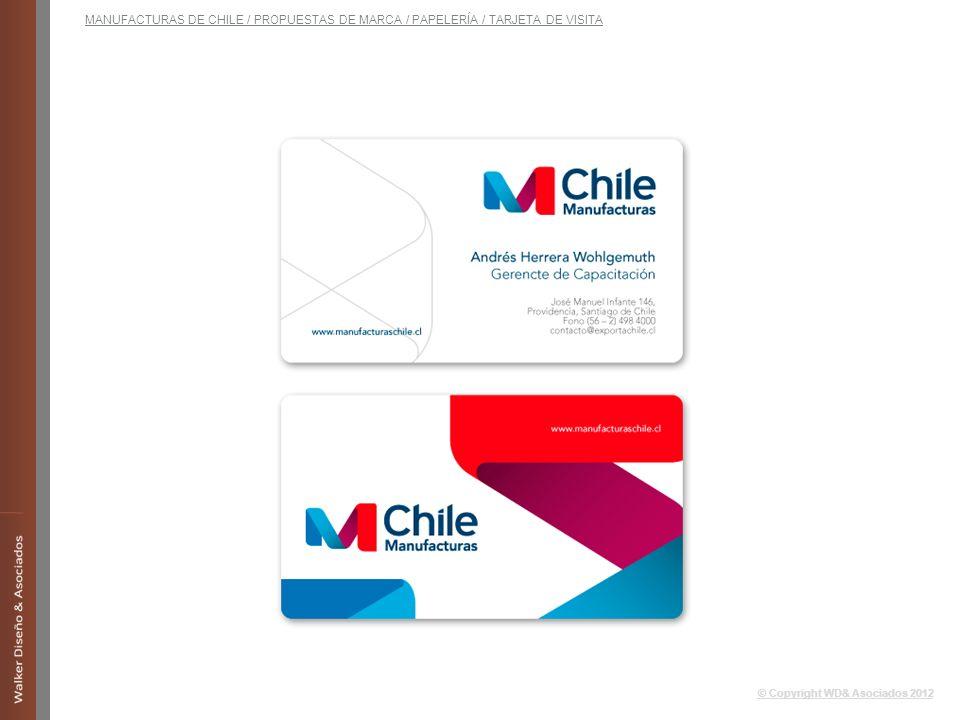MANUFACTURAS DE CHILE / PROPUESTAS DE MARCA / PAPELERÍA / TARJETA DE VISITA