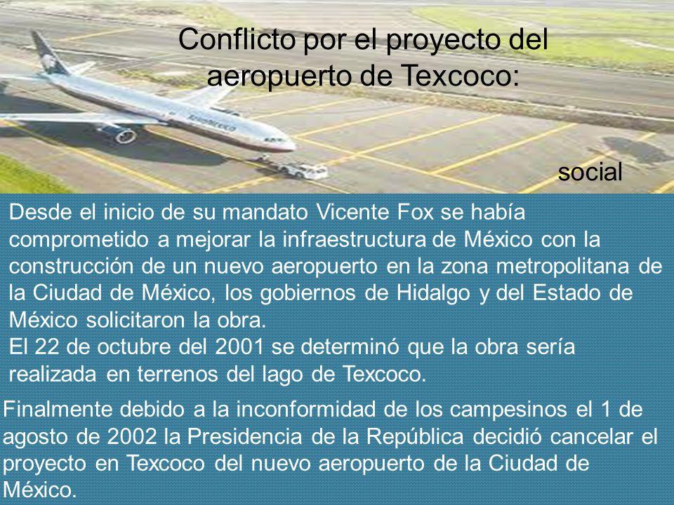 Conflicto por el proyecto del aeropuerto de Texcoco: