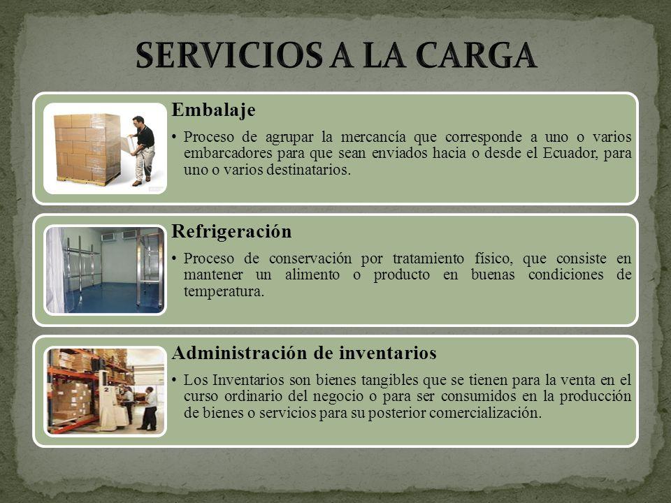 SERVICIOS A LA CARGA Embalaje Refrigeración