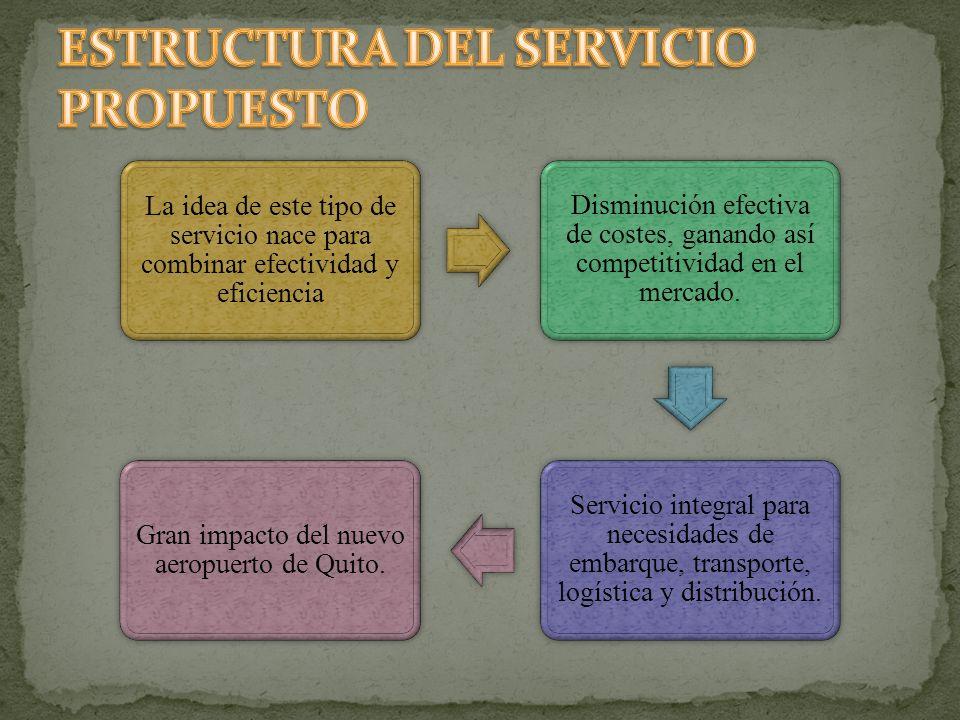 ESTRUCTURA DEL SERVICIO PROPUESTO