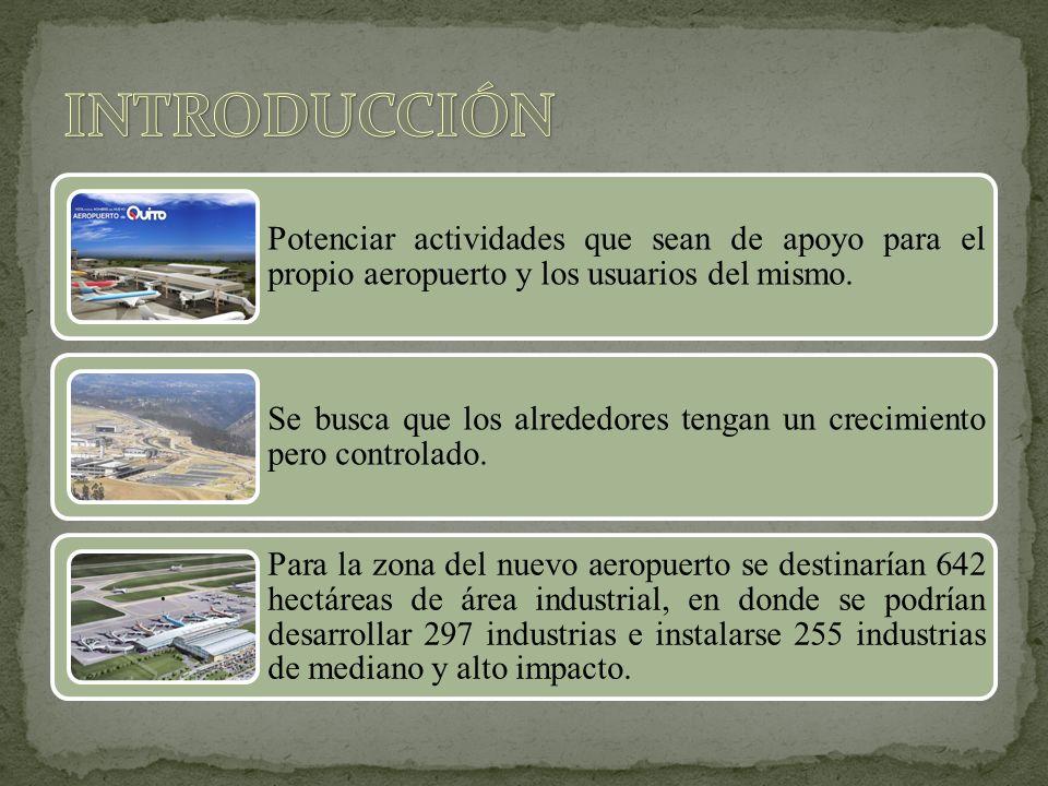 INTRODUCCIÓN Potenciar actividades que sean de apoyo para el propio aeropuerto y los usuarios del mismo.