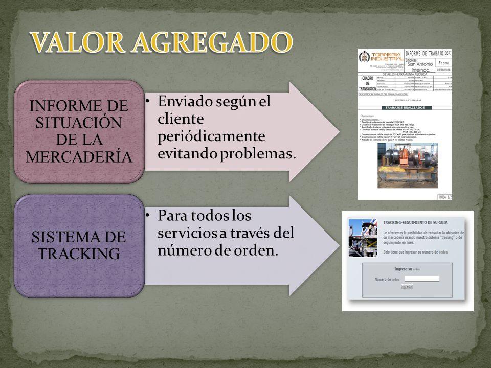 INFORME DE SITUACIÓN DE LA MERCADERÍA