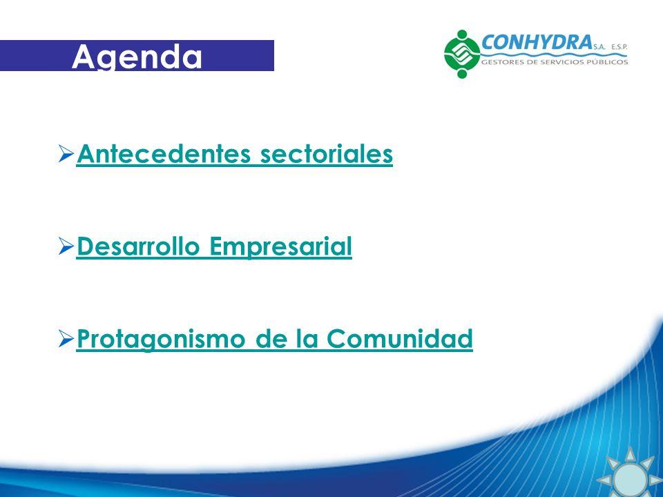 Agenda Antecedentes sectoriales Desarrollo Empresarial