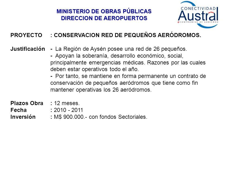 MINISTERIO DE OBRAS PÚBLICAS DIRECCION DE AEROPUERTOS