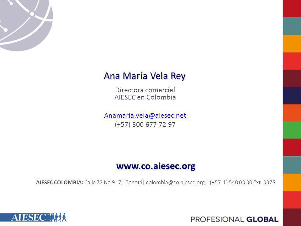 Directora comercial AIESEC en Colombia