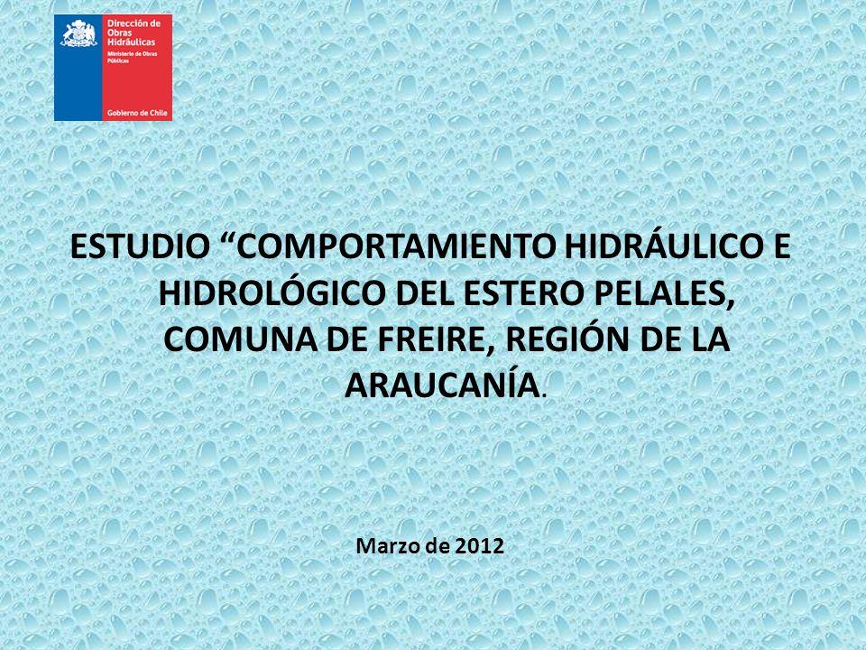 ESTUDIO COMPORTAMIENTO HIDRÁULICO E HIDROLÓGICO DEL ESTERO PELALES, COMUNA DE FREIRE, REGIÓN DE LA ARAUCANÍA.