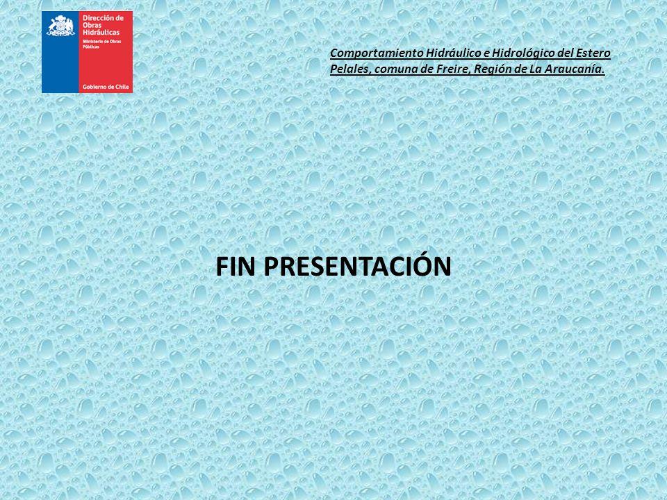Comportamiento Hidráulico e Hidrológico del Estero Pelales, comuna de Freire, Región de La Araucanía.