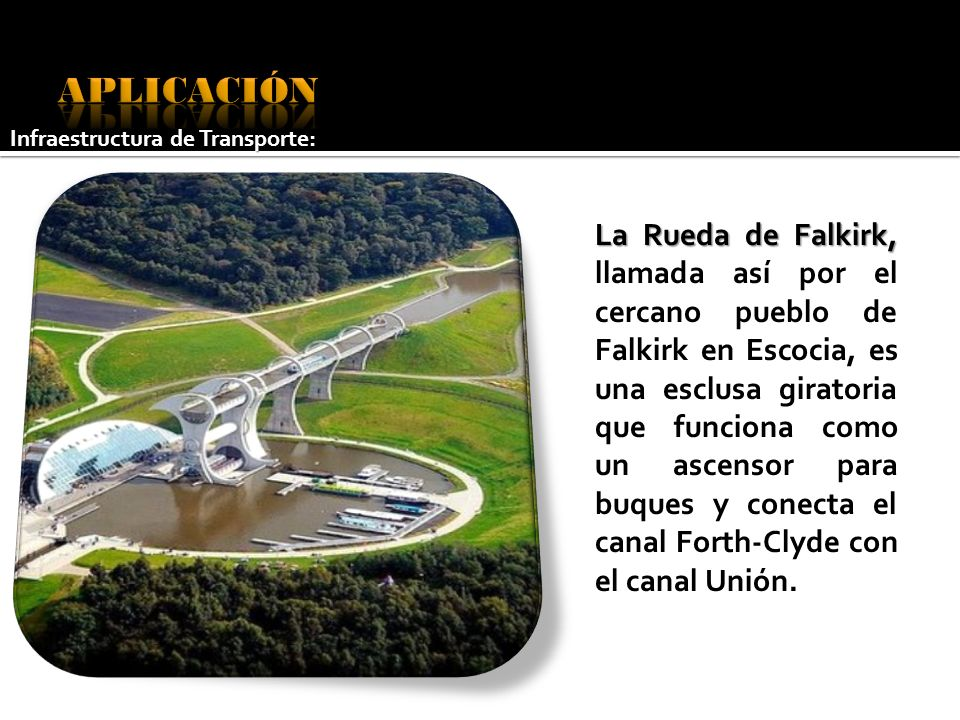 APLICACIÓN Infraestructura de Transporte: