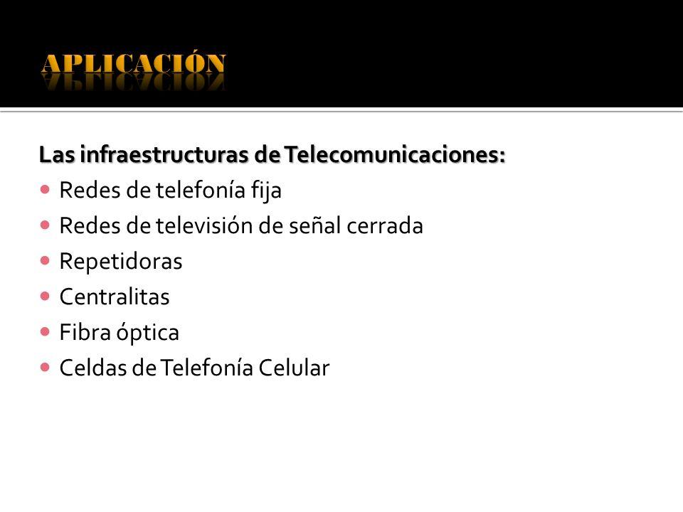 APLICACIÓN Las infraestructuras de Telecomunicaciones: