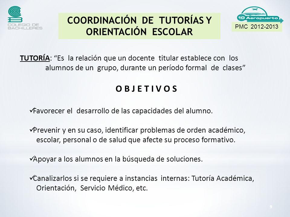 COORDINACIÓN DE TUTORÍAS Y ORIENTACIÓN ESCOLAR