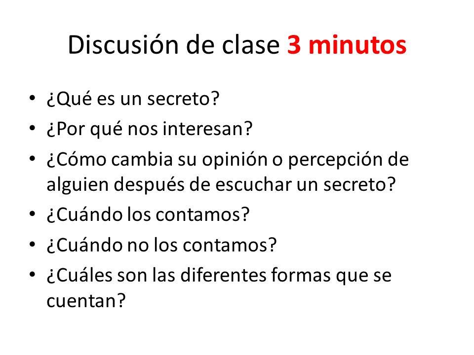 Discusión de clase 3 minutos