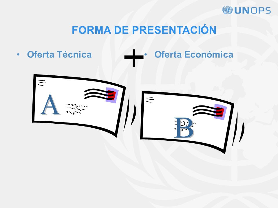 FORMA DE PRESENTACIÓN Oferta Técnica Oferta Económica A B