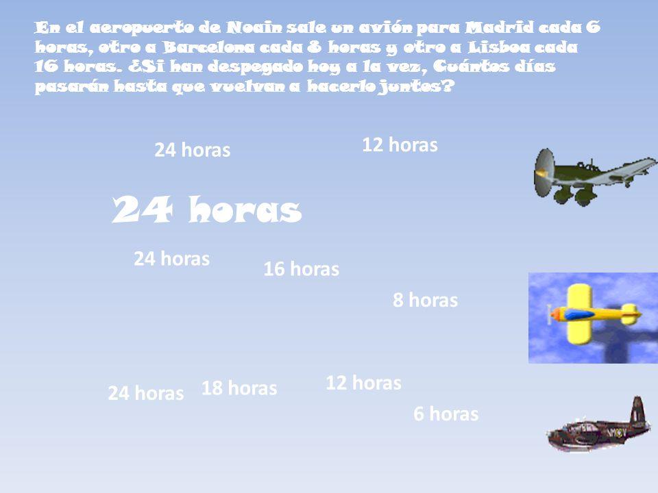 24 horas 12 horas 24 horas 24 horas 16 horas 8 horas 12 horas 18 horas