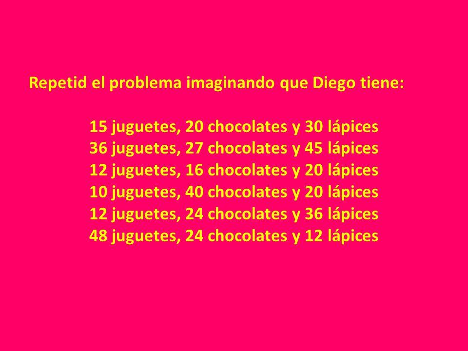 Repetid el problema imaginando que Diego tiene: