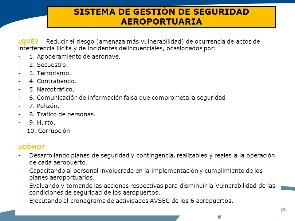 SISTEMA DE GESTIÓN DE SEGURIDAD AEROPORTUARIA