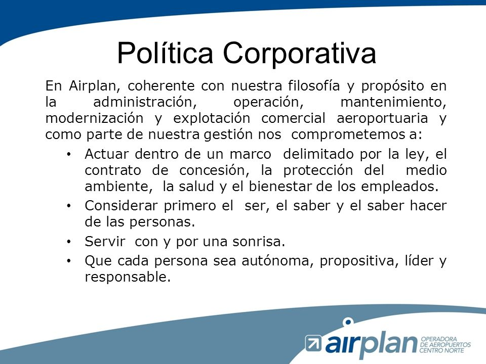 Política Corporativa