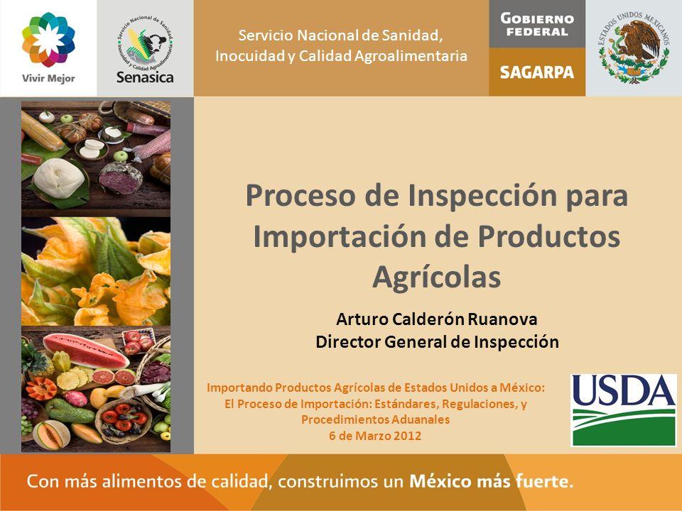 Proceso de Inspección para Importación de Productos Agrícolas