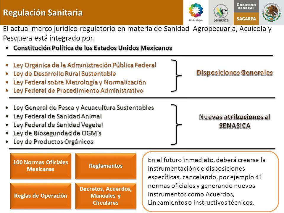 Disposiciones Generales Nuevas atribuciones al SENASICA