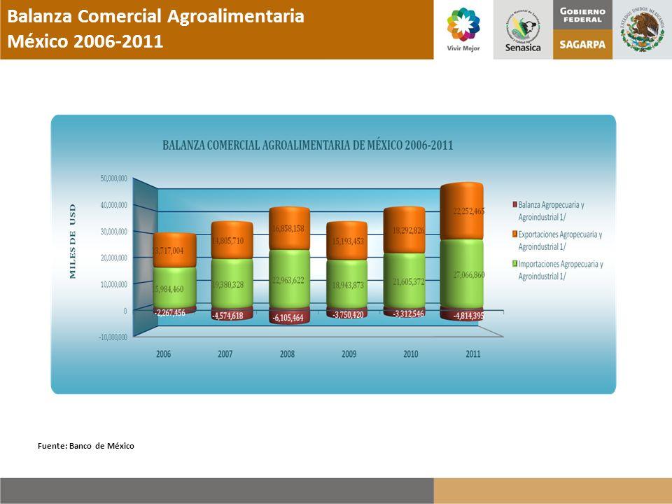 Balanza Comercial Agroalimentaria México 2006-2011