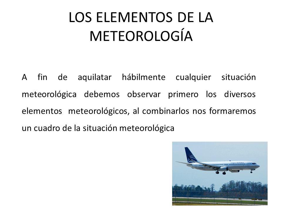 LOS ELEMENTOS DE LA METEOROLOGÍA