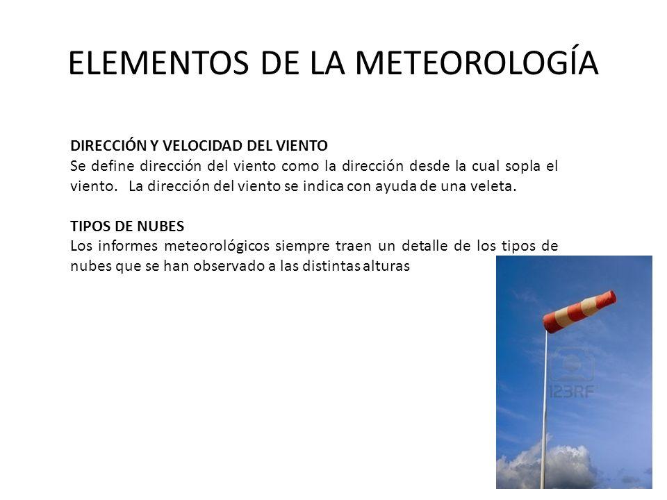 ELEMENTOS DE LA METEOROLOGÍA