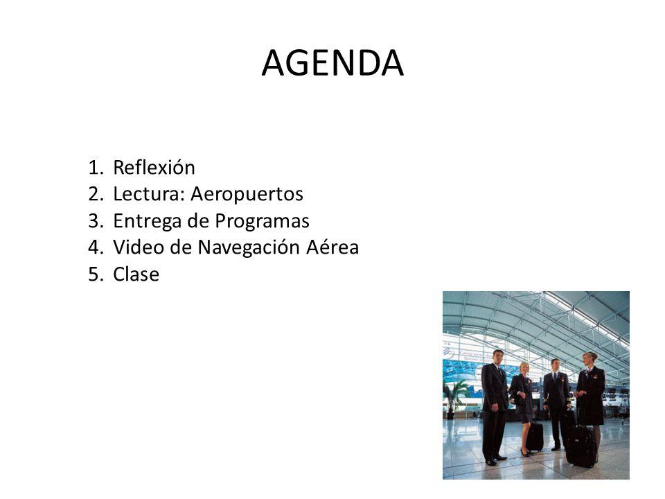 AGENDA Reflexión Lectura: Aeropuertos Entrega de Programas