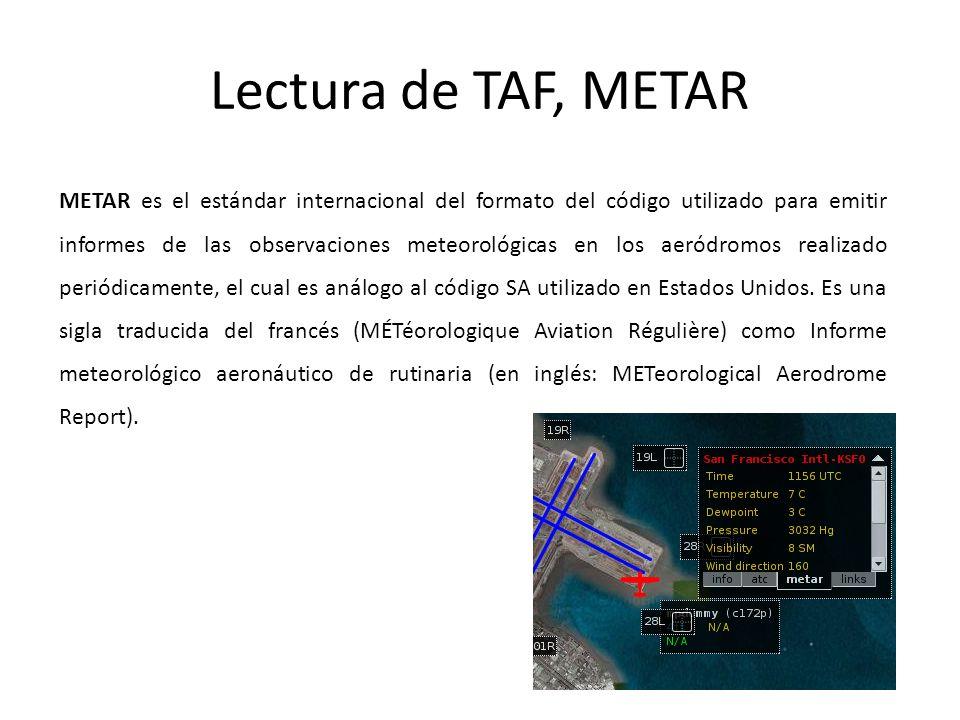 Lectura de TAF, METAR