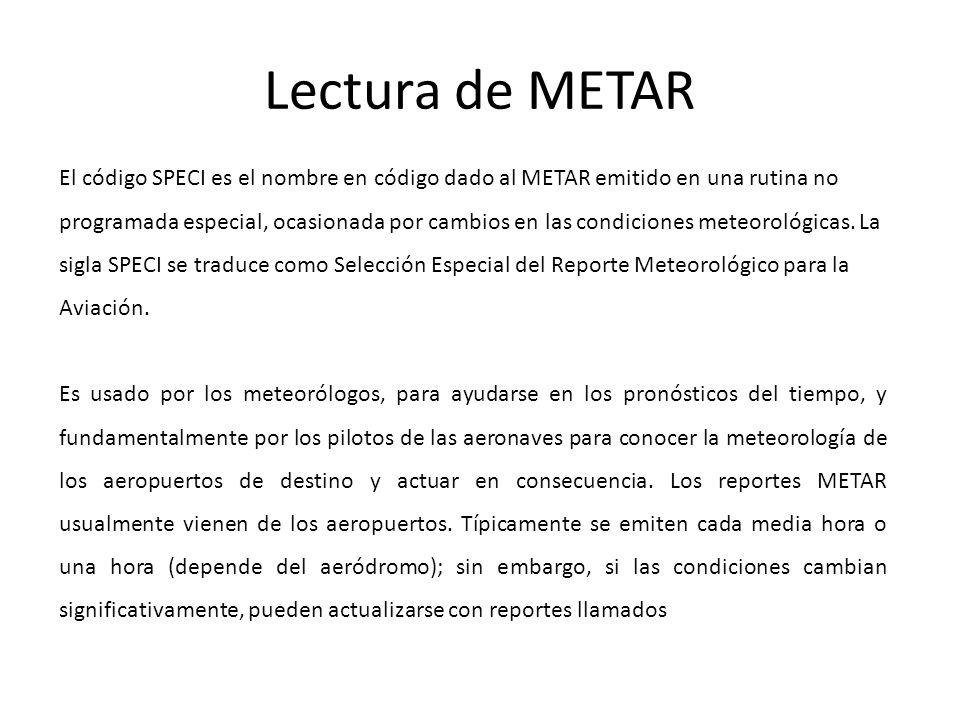 Lectura de METAR