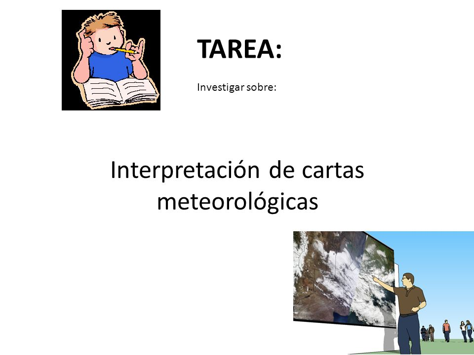 Interpretación de cartas meteorológicas
