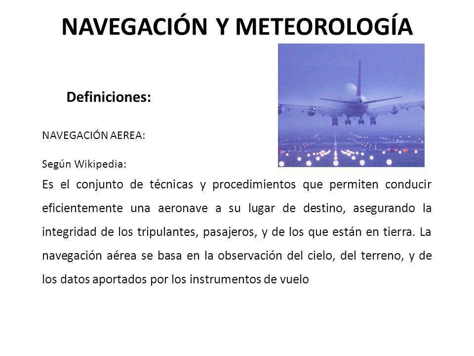 NAVEGACIÓN Y METEOROLOGÍA