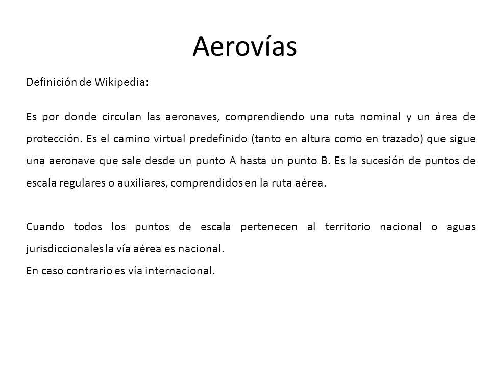 Aerovías Definición de Wikipedia: