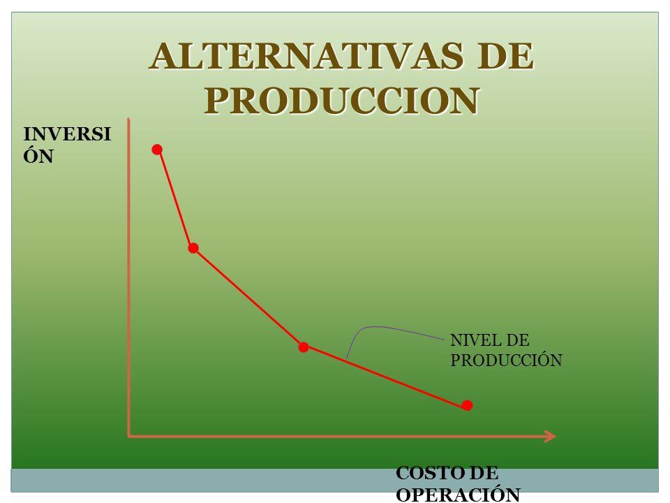 ALTERNATIVAS DE PRODUCCION