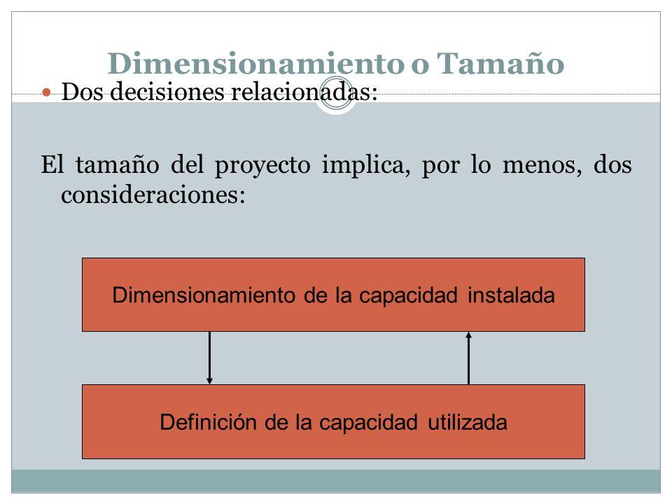 Dimensionamiento o Tamaño