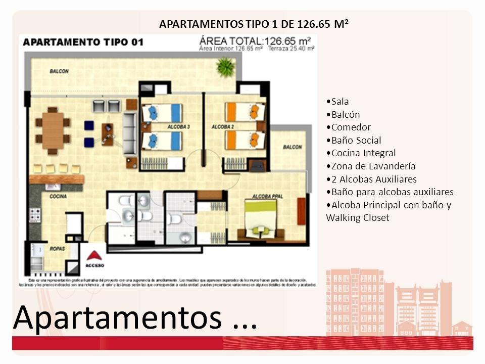 Apartamentos ... APARTAMENTOS TIPO 1 DE 126.65 M2 Sala Balcón Comedor