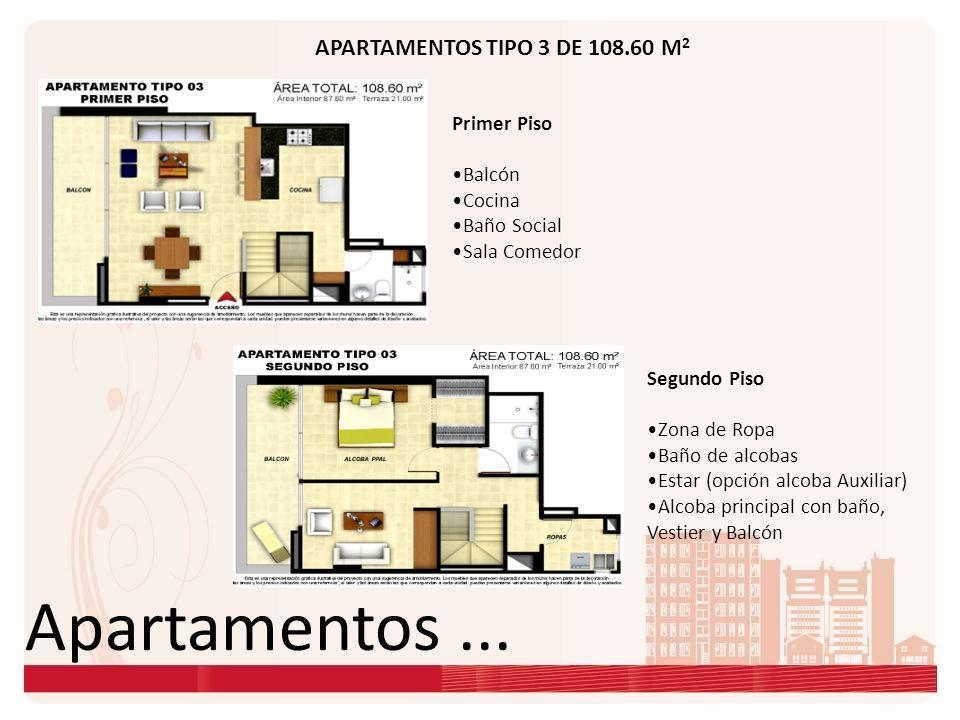 Apartamentos ... APARTAMENTOS TIPO 3 DE 108.60 M2 Primer Piso Balcón
