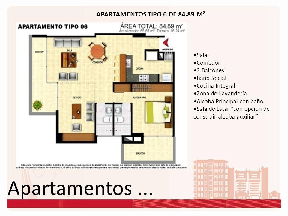 Apartamentos ... APARTAMENTOS TIPO 6 DE 84.89 M2 Sala Comedor