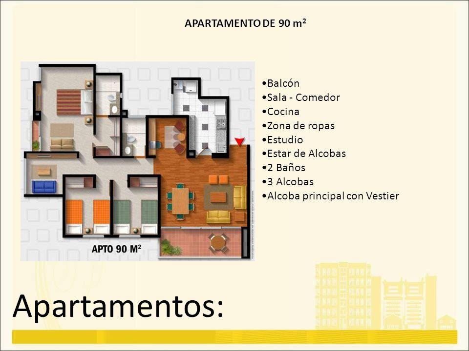 Apartamentos: APARTAMENTO DE 90 m2 Balcón Sala - Comedor Cocina