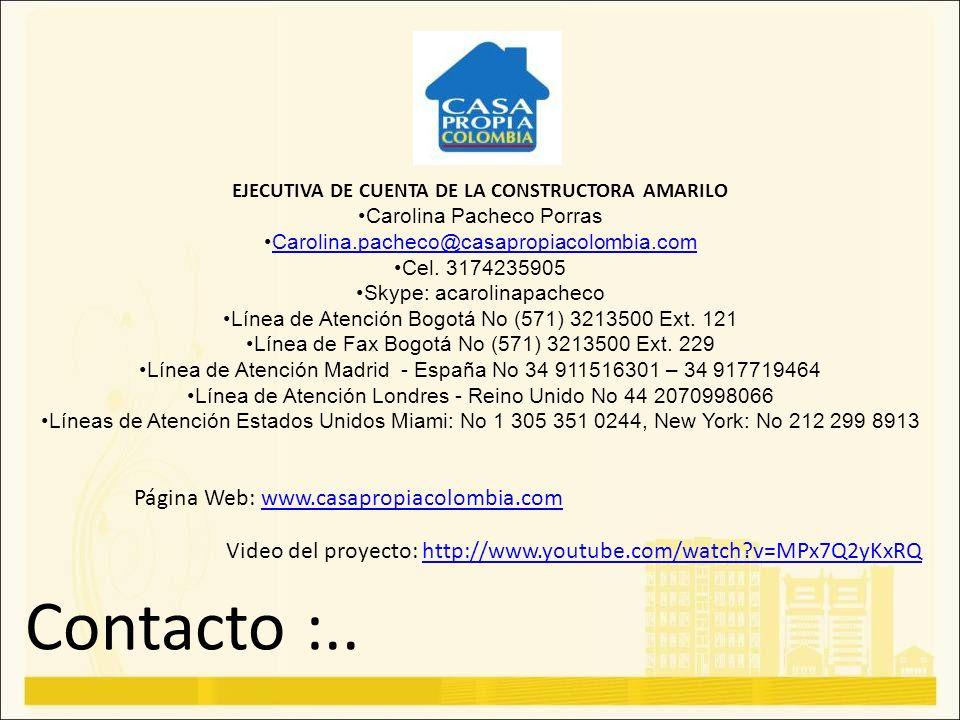 EJECUTIVA DE CUENTA DE LA CONSTRUCTORA AMARILO