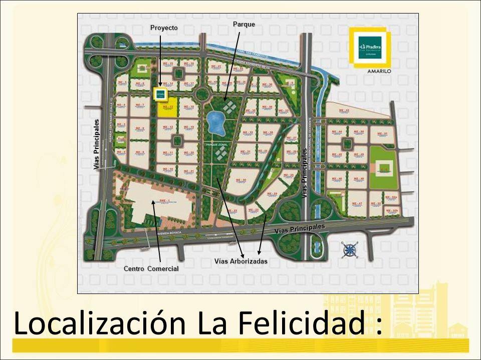Localización La Felicidad :