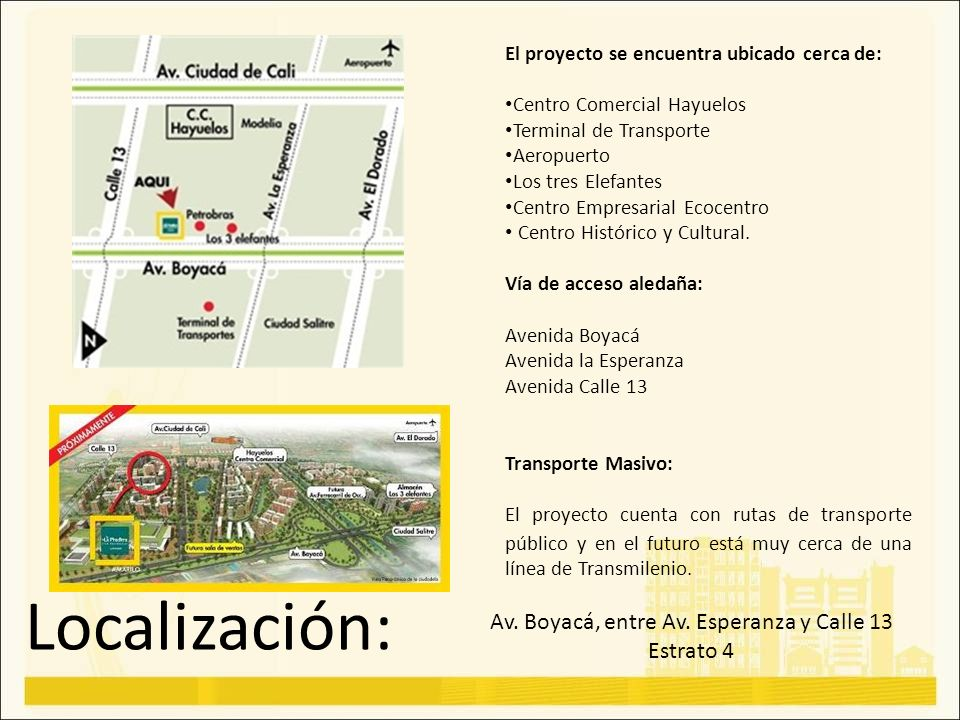 Av. Boyacá, entre Av. Esperanza y Calle 13