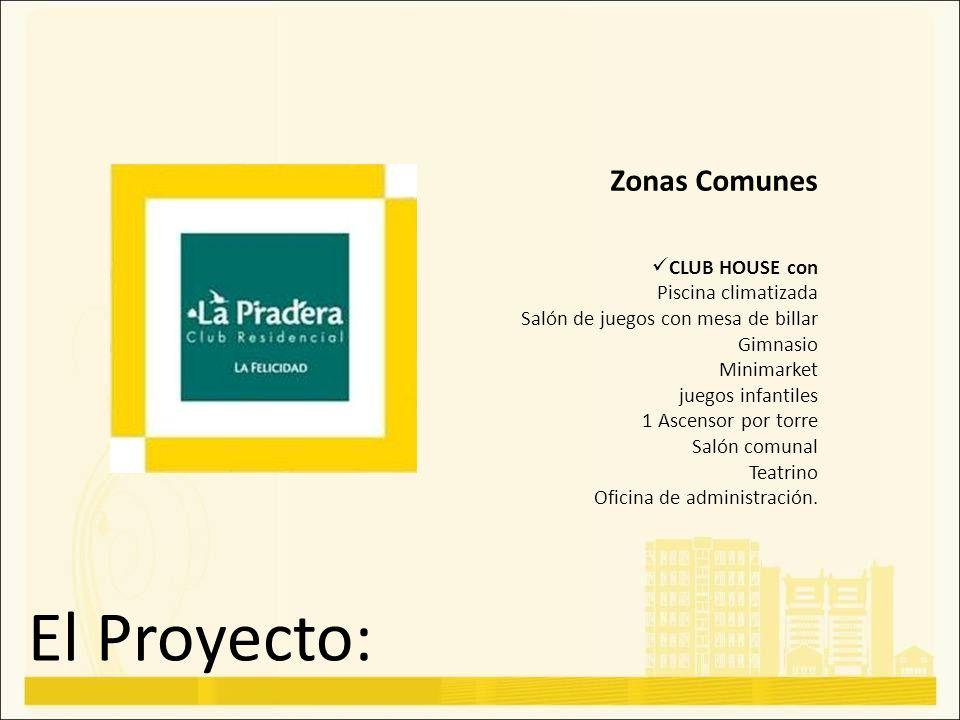El Proyecto: Zonas Comunes CLUB HOUSE con Piscina climatizada