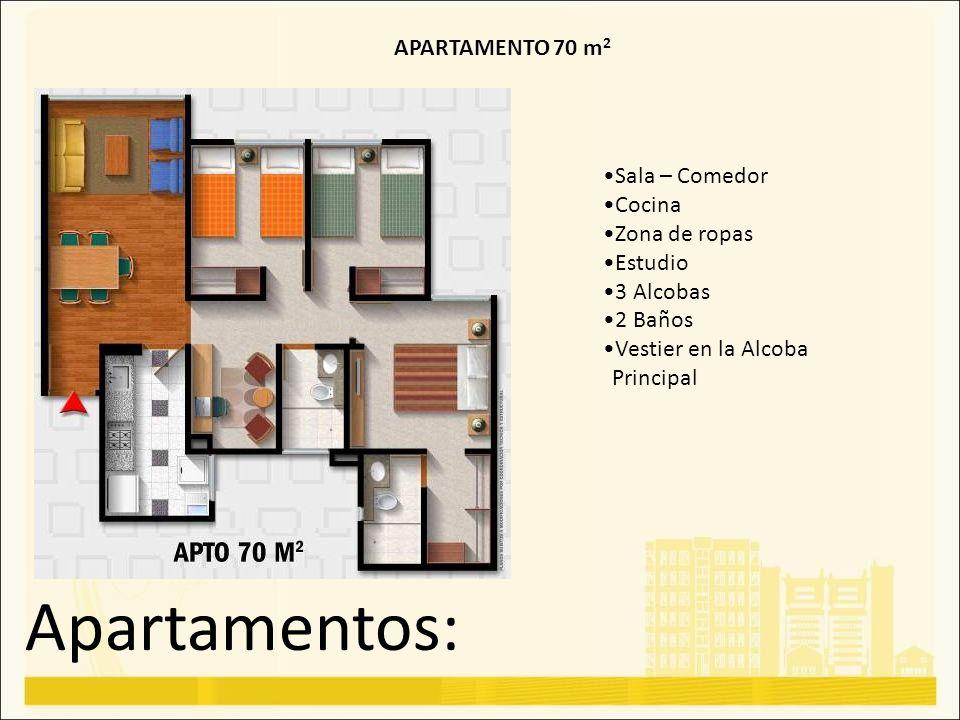 Apartamentos: APARTAMENTO 70 m2 Sala – Comedor Cocina Zona de ropas