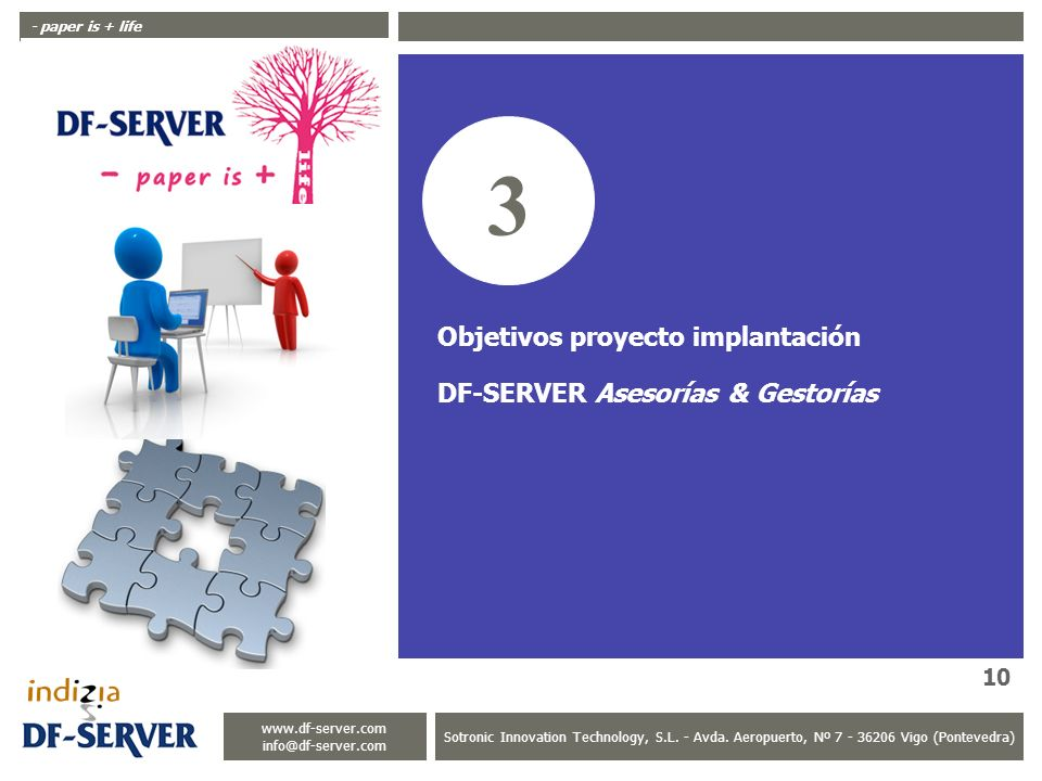 3 Objetivos proyecto implantación DF-SERVER Asesorías & Gestorías