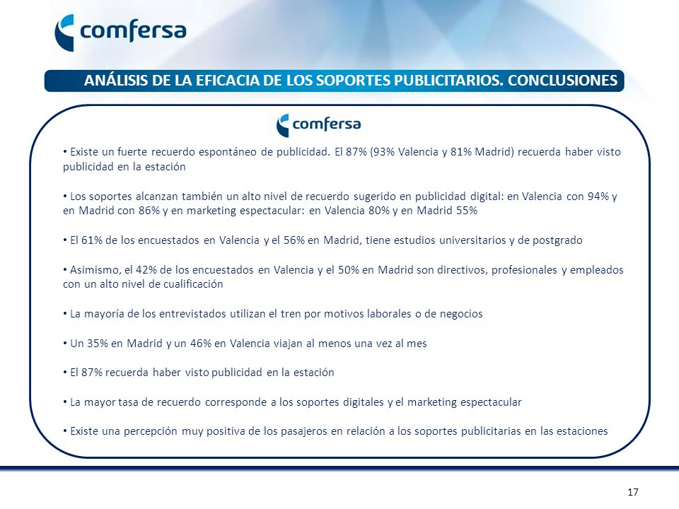 ANÁLISIS DE LA EFICACIA DE LOS SOPORTES PUBLICITARIOS. CONCLUSIONES